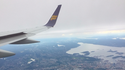 Flying over Oslo